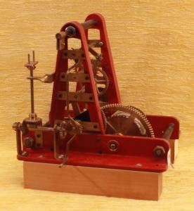 Nr.119 kleine rote Turmuhr Image